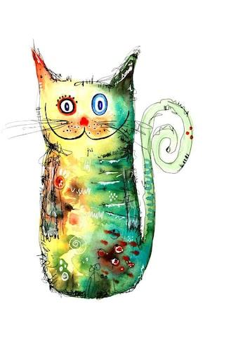 Wall-Art Wandtattoo »Bunte Katze - Crazy Cat« kaufen