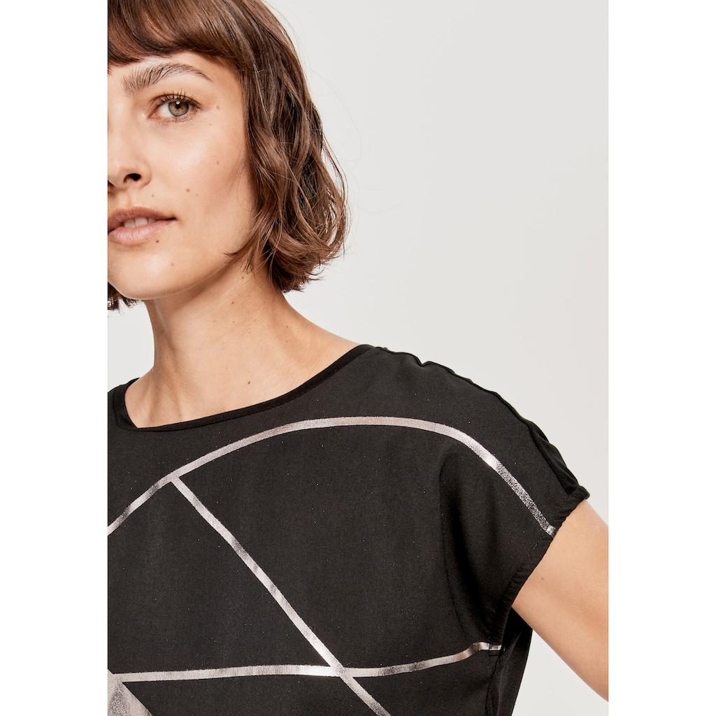 OPUS Blusenshirt »Sanima print«, mit modischem Snake-Print