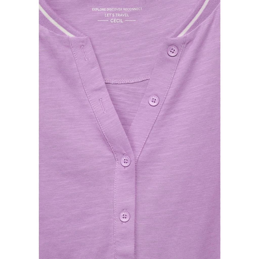 Cecil 3/4-Arm-Shirt, mit Streifendetail am Ausschnitt