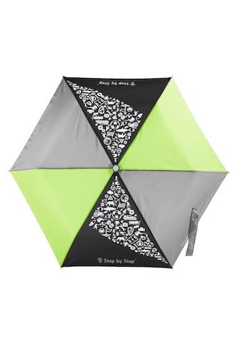 Step by Step Regenschirm Jungen Kinder Taschenschirm Grün Grau kaufen