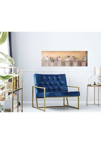 Reinders! Holzbild »Deco Panel 30x90 Bird Family« kaufen