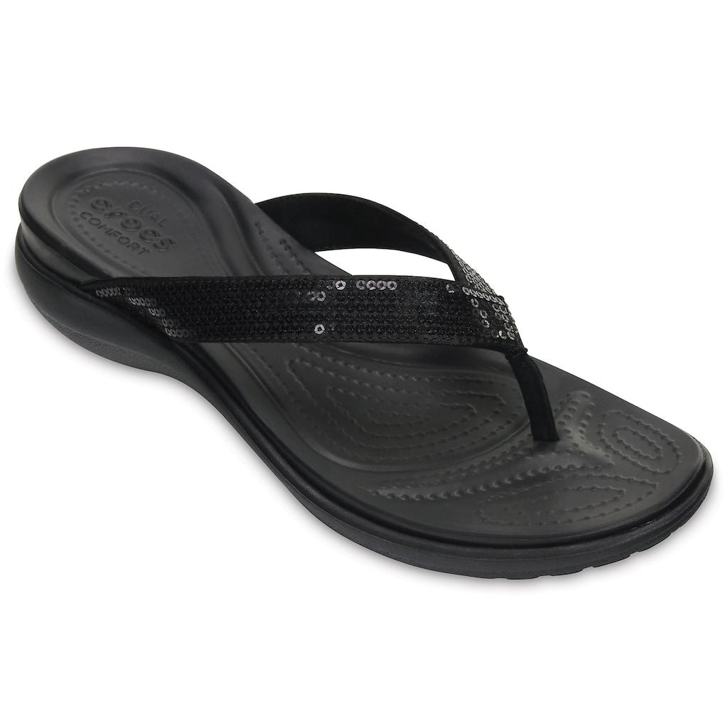 Crocs Zehentrenner »Capri V Sequin«