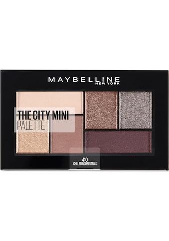 MAYBELLINE NEW YORK Lidschatten-Palette »The City Mini«, Chill Brunch Neutrals kaufen