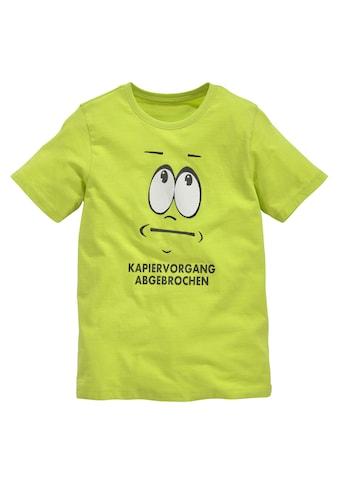 KIDSWORLD T-Shirt »KAPIERVORGANG ABGEBROCHEN« kaufen