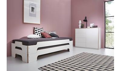 Müller SMALL LIVING Daybett »STAPELLIEGE Komfort-Set«, inklusive 2 Stapelliegen Komfort, 2 Matratzen mit hochwertigem Bergamo Stoff bezogen und 2 Lattenrosten, ausgezeichnet mit dem German Design Award - 2019 kaufen