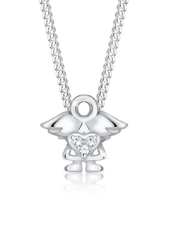 Elli Collierkettchen »Kinder mit Engel Kristalle 925 Silber« kaufen