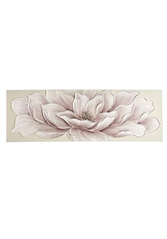 Originalgemälde Blüte mit Glittereffekt kaufen