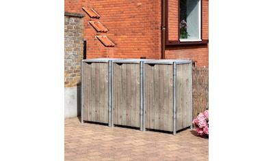 Hide Mülltonnenbox, für 3 x 120 l, grauxnatur kaufen