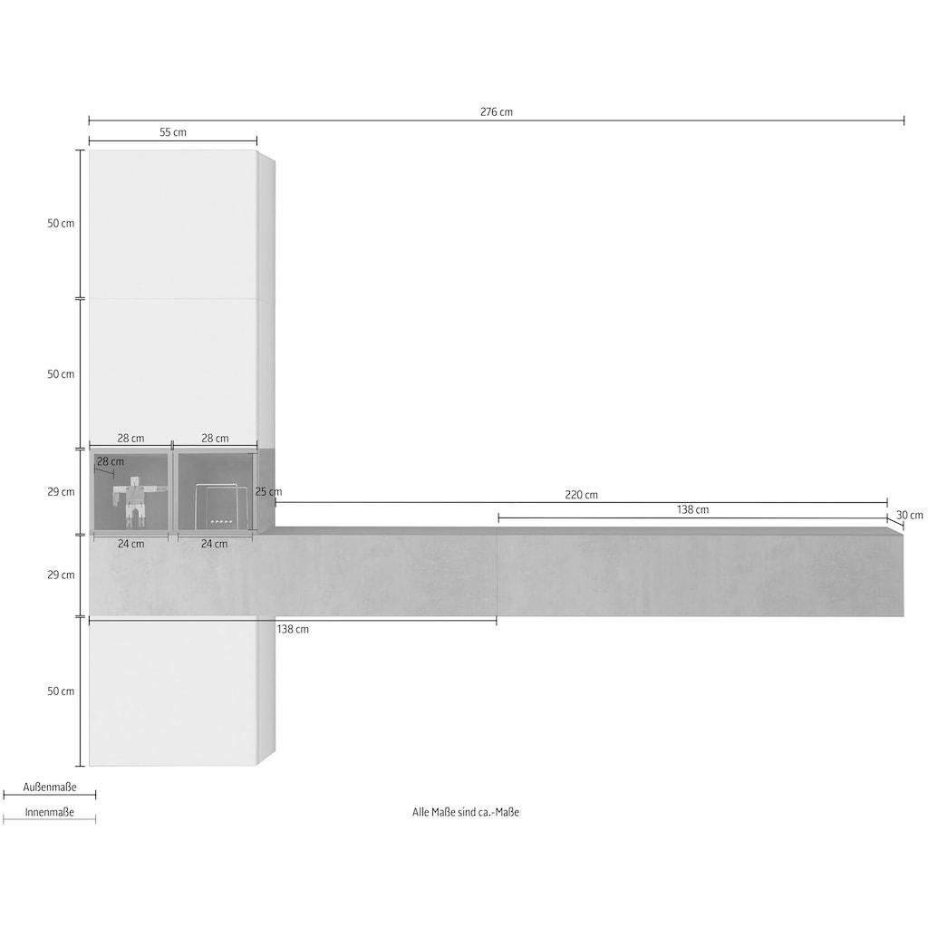 LC Wohnwand »Infinity«, (Set, 6 tlg.)