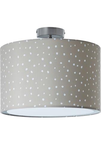 Lüttenhütt Deckenleuchte »Prick«, E27, Deckenlampe mit Stoffschirm Ø 40 cm, grau / weiß, gepunktet / gesprenkelt, Höhe 32 cm kaufen