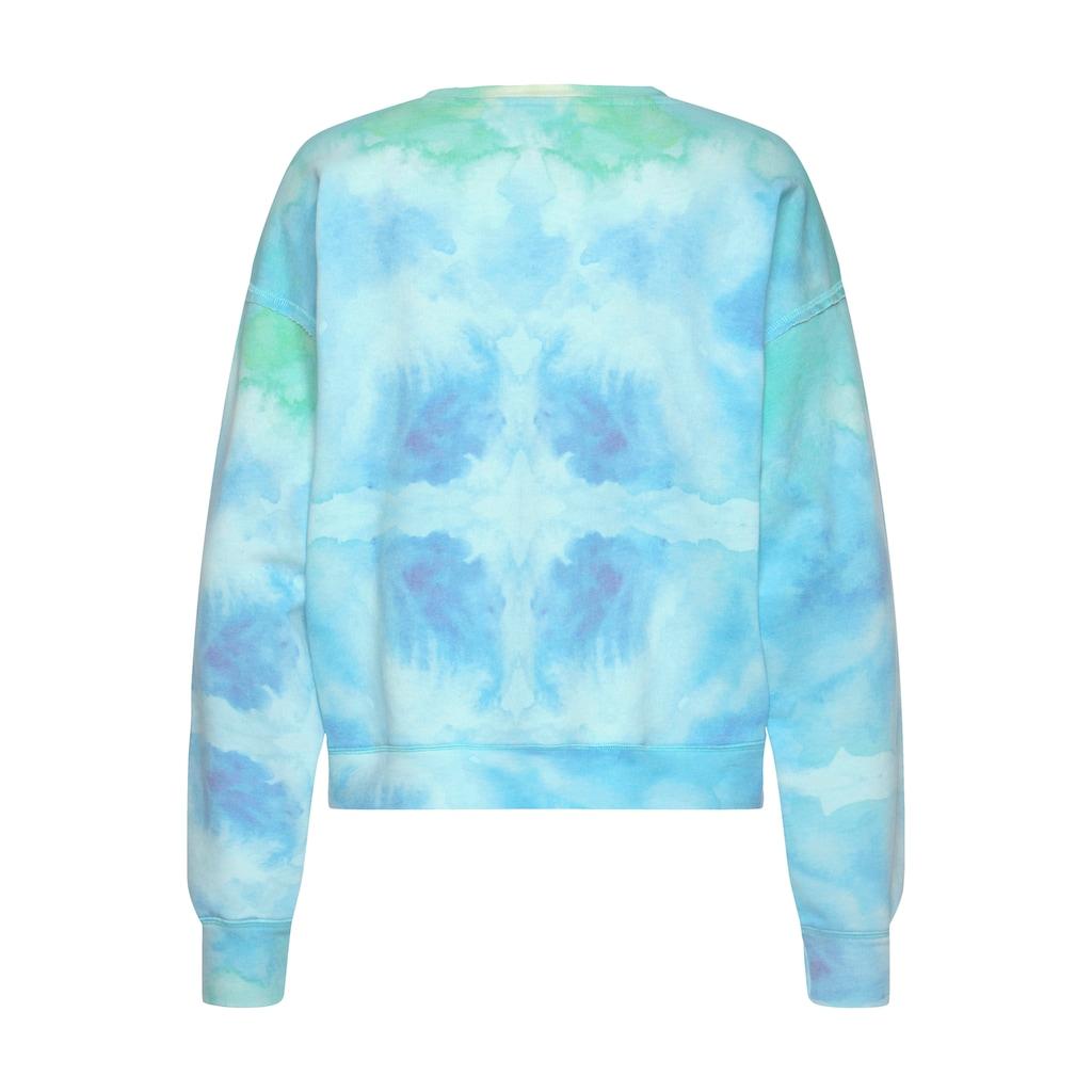 Herrlicher Sweatshirt »CARRIE«, im Batik-Look