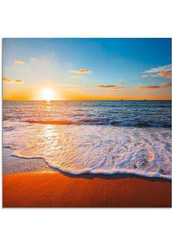 Artland Glasbild »Sonnenuntergang und das Meer«, Strand, (1 St.) kaufen