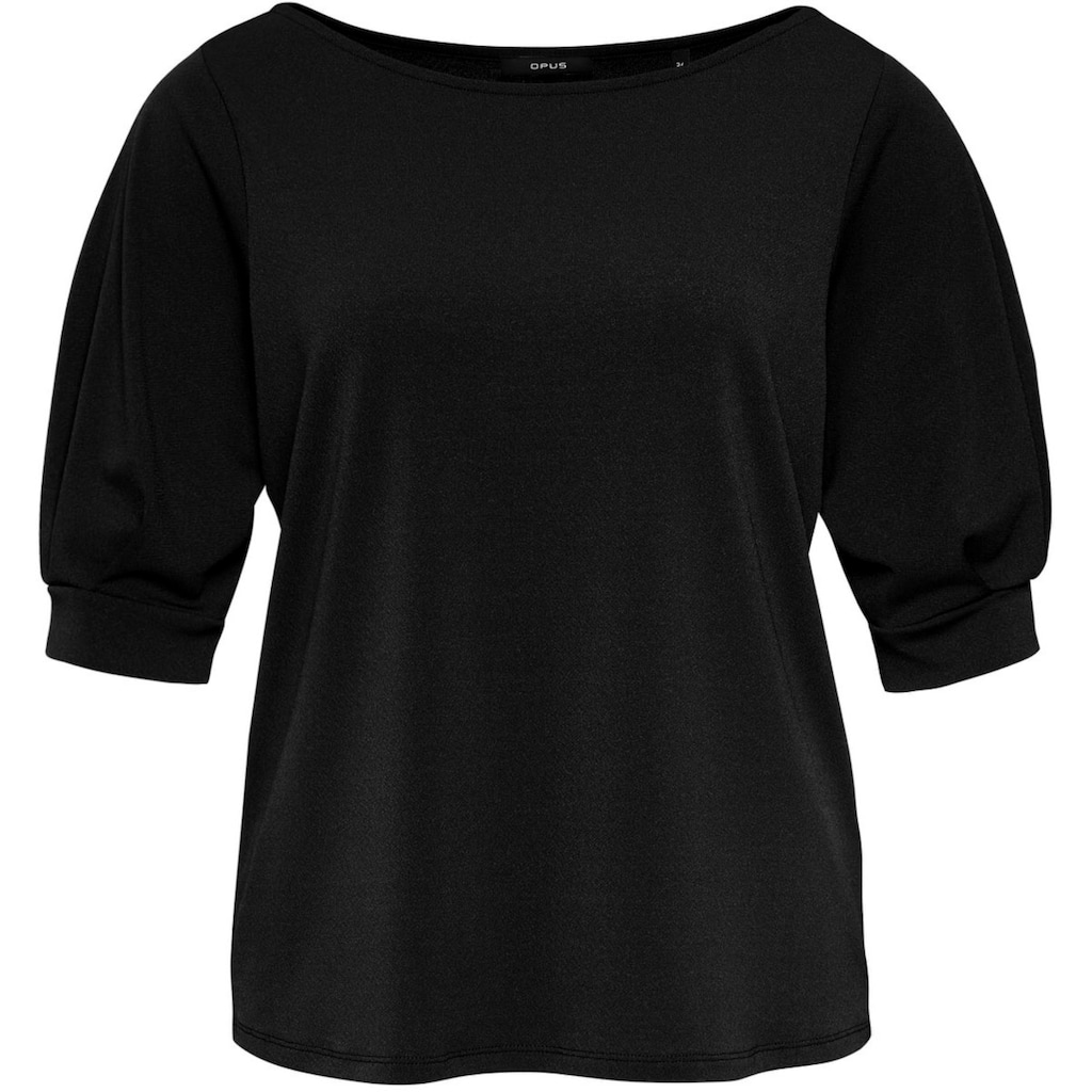 OPUS T-Shirt »Spela«, mit voluminösen Ärmeln