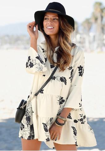 LASCANA Blusenkleid, in weiter Form mit Volants kaufen