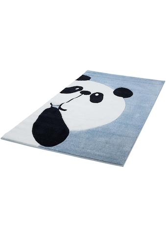 Carpet City Kinderteppich »Bueno Kids 1389«, rechteckig, 13 mm Höhe, Panda Bär in pastell Farbtönen kaufen