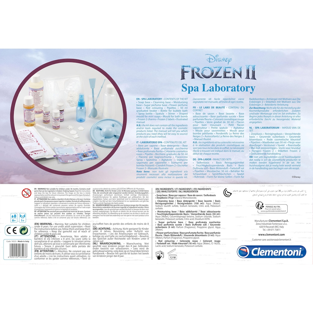Clementoni® Kreativset »Frozen 2 - Spa-Labor«