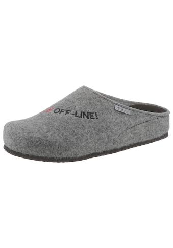 """Tofee Pantoffel, mit Schriftzug """"#Off-Line!"""" kaufen"""