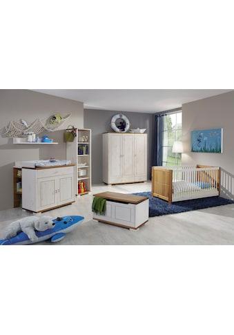 Fantasykids Babyzimmer-Komplettset, (Set, 7 tlg., Bett + Wickelkommode + 1x Unterbauregal + 3-trg. Schrank + Strandregal + Deckeltruhe + Wandboard) kaufen