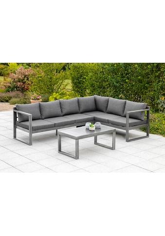 MERXX Gartenmöbelset »Dilos«, (2 tlg.), Eckset mit Auflagen, Tisch kaufen