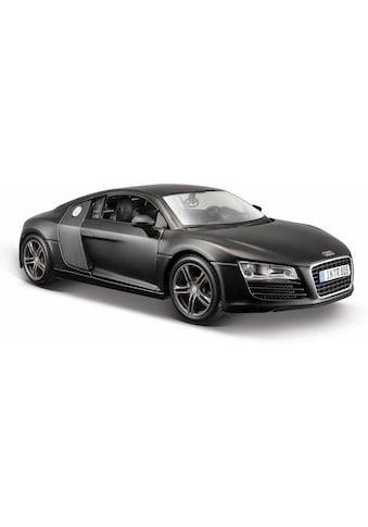 Maisto® Sammlerauto »Dull Black Collection, Audi R8, 1:24, schwarz«, 1:24, aus Metallspritzguss kaufen