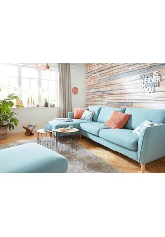 Home affaire Ecksofa »Marseille«, in skandinavischem Stil, in 3 Bezugsqualitäten, mit Holz-Beinen kaufen