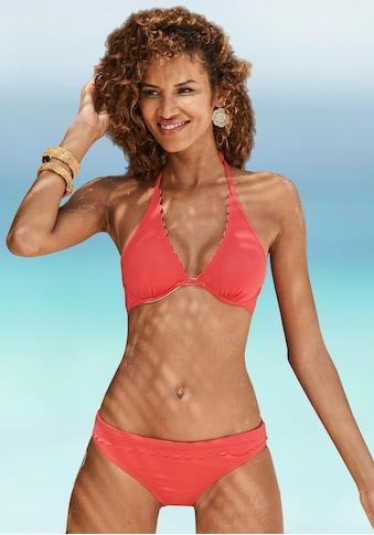 LASCANA Bikini-Hose »Scallop«, mit Umschlagbund kaufen