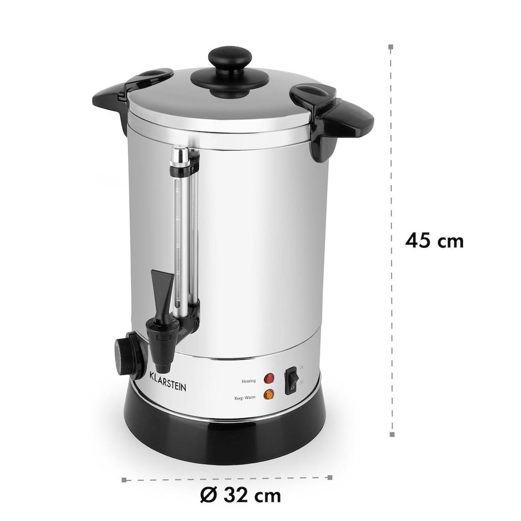 Klarstein Getränkekocher, ca. 30 Tassen, 30 – 110 °C, Edelstahl