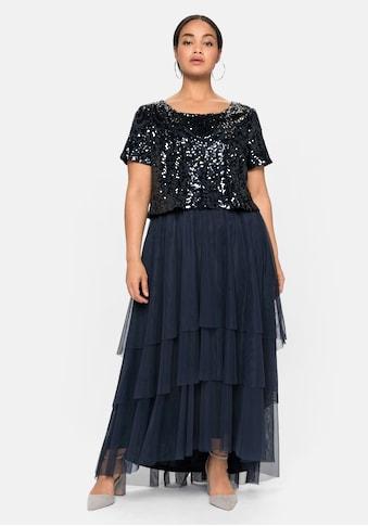 Sheego Abendkleid, mit lose fallendem Paillettenoberteil kaufen