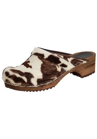 Clog »1706199W-3«, Sanita Damen Clog Kuhfell braun kaufen