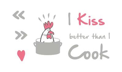 Komar Wandtattoo »I kiss better than….«, selbstklebend, rückstandslos abziehbar kaufen