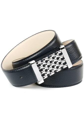 Anthoni Crown Ledergürtel, mit Unterführung kaufen