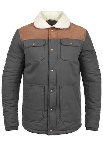 Solid Winterjacke »Ferdinand«, warme Jacke mit Kragen mit Teddyfutter kaufen