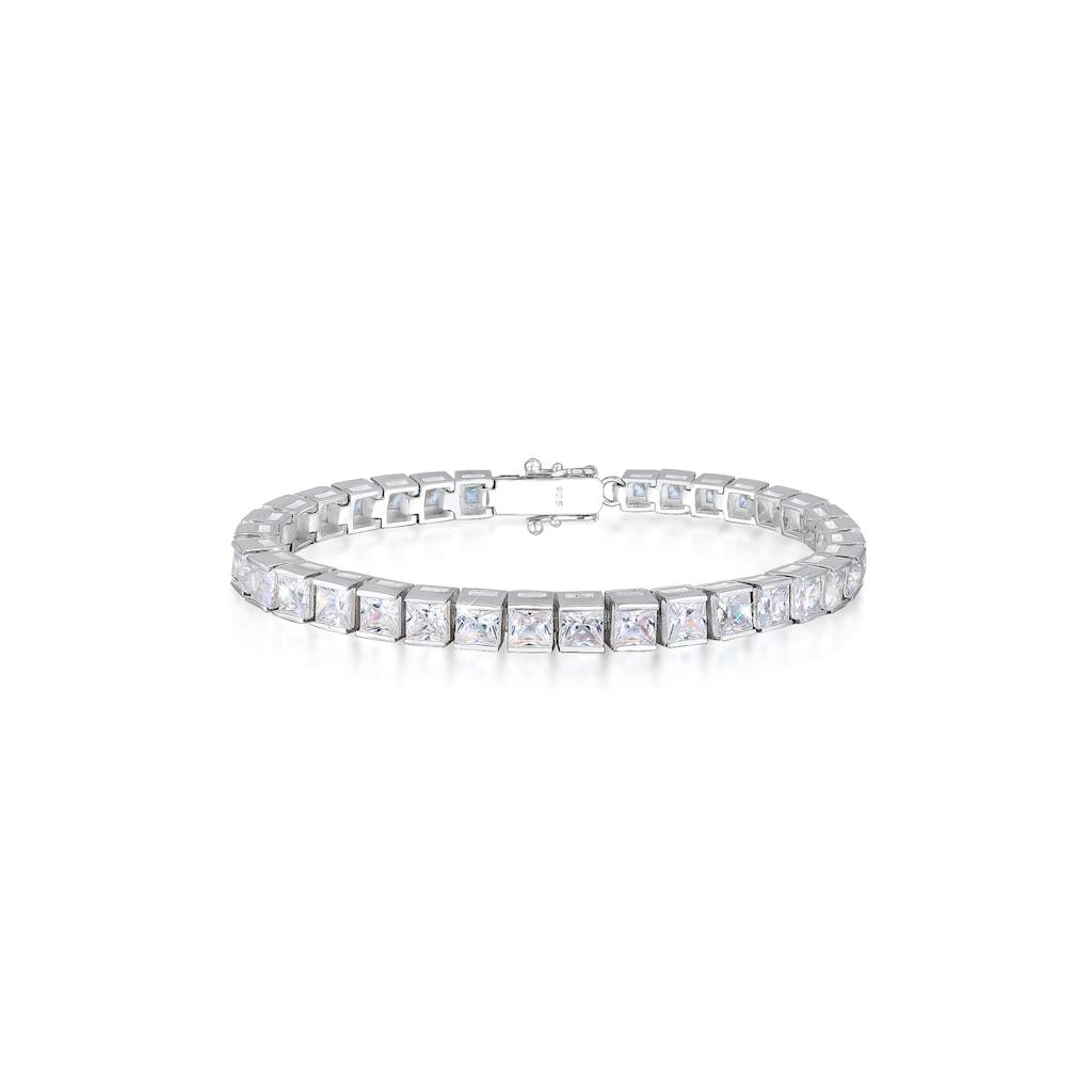 Elli Armband »Tennisarmband Zirkonia Kristall Sparkle 925 Silber«