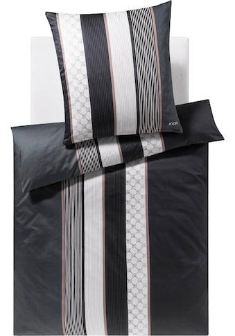 Joop! Bettwäsche »Cornflower Stripes«, mit Kornblumen-Muster & Streifen kaufen