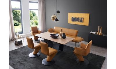 K+W Komfort & Wohnen Essgruppe »Drive«, (Set, 6 tlg.), Solobank mit Armteilverstellung, 2 Drehstühle, 2 Drehsessel und Tisch mit Auszugfunktion 200-300cm kaufen