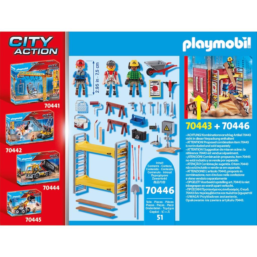 Playmobil® Konstruktions-Spielset »Baugerüst mit Handwerkern (70446), City Action«, (51 St.), Made in Europe