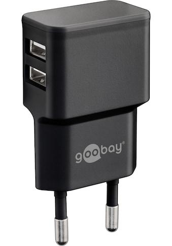 Goobay USB-Ladegerät »Charger, Netzteil, 2,4 A (12W) Schwarz«, Kompakt mit 2xUSB... kaufen