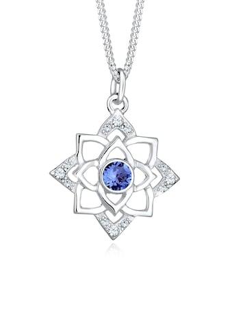 Elli Collierkettchen »Geburtsstein Lotus Kristalle 925 Silber« kaufen