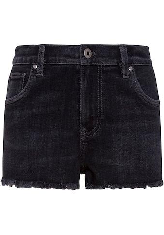 Pepe Jeans Jeansshorts »Patty«, kurze Fransen am Saum kaufen