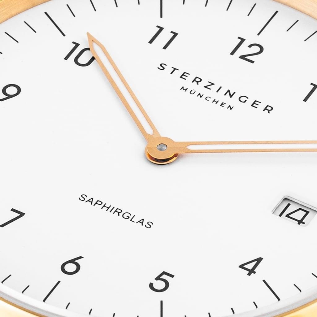 Sterzinger Quarzuhr »SM013«, (1 tlg.), Echtleder-Armband, Made in Italy
