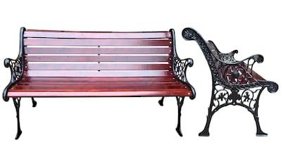 GARDEN PLEASURE Gartenbank »Versailles«, Stahl / Eukalyptusholz, 126x57 cm kaufen