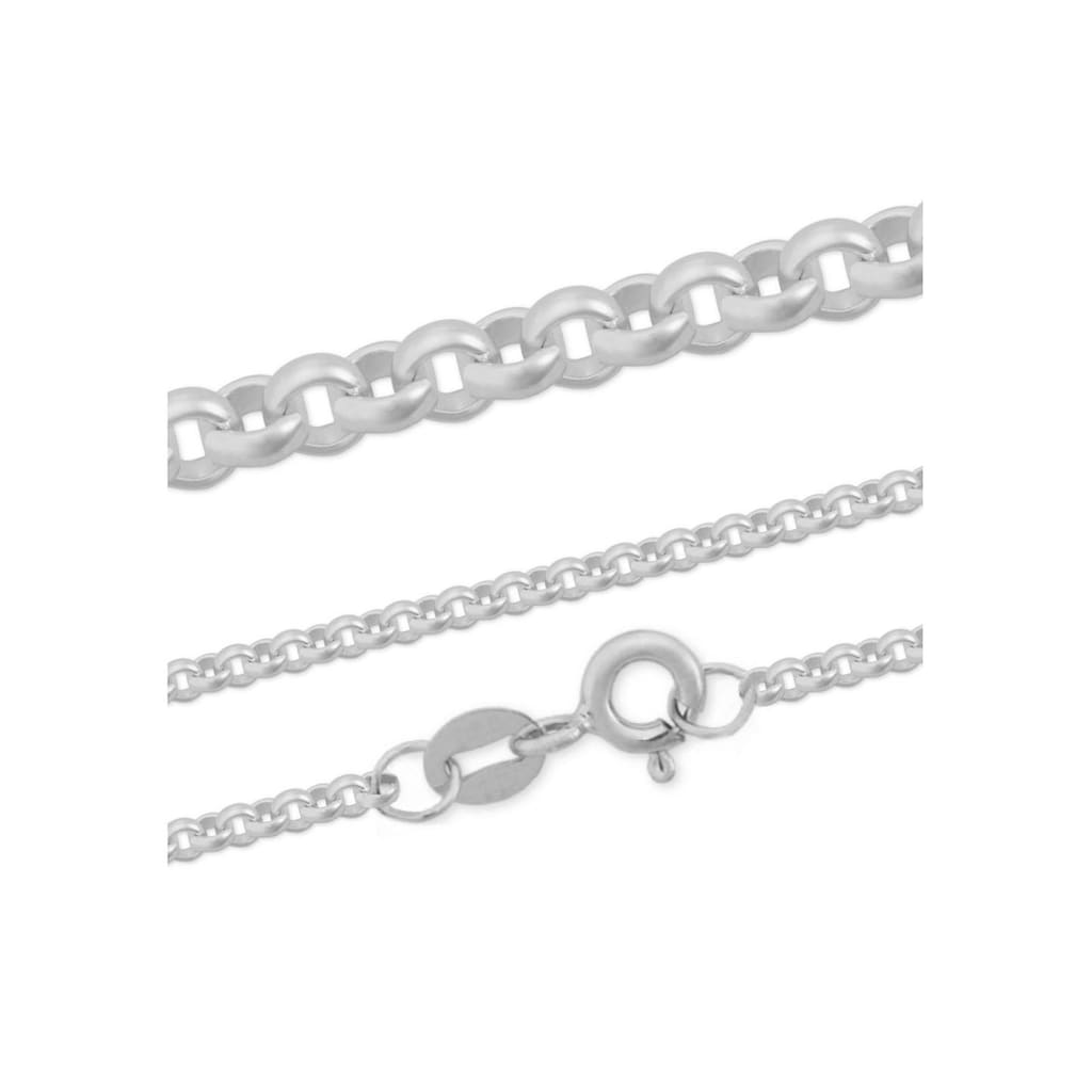 Firetti Silberkette »Erbskette, glanz, rhodiniert, massiv«