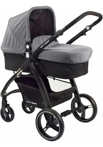 CHIC4BABY Kombi-Kinderwagen »Volare, grau-schwarz«, inklusive Sportsitz kaufen