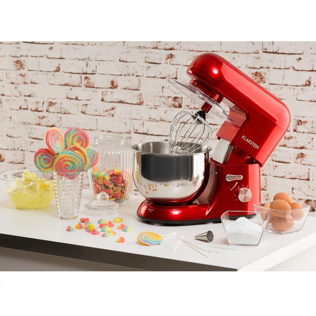 Klarstein Küchenmaschine Knetmaschine Rührmaschine mit Zubehör 5 Liter