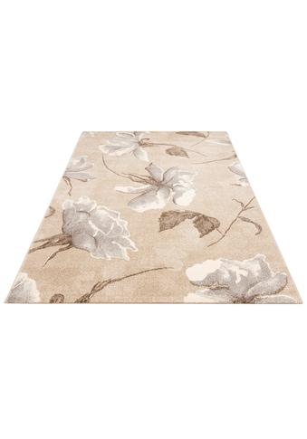 my home Teppich »Sofia«, rechteckig, 13 mm Höhe, Blumen Design, Wohnzimmer kaufen