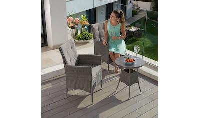 KONIFERA Gartenmöbelset »Mailand«, (7 tlg.), 2 Sessel, Tisch Ø 5 cm, Polyrattan kaufen
