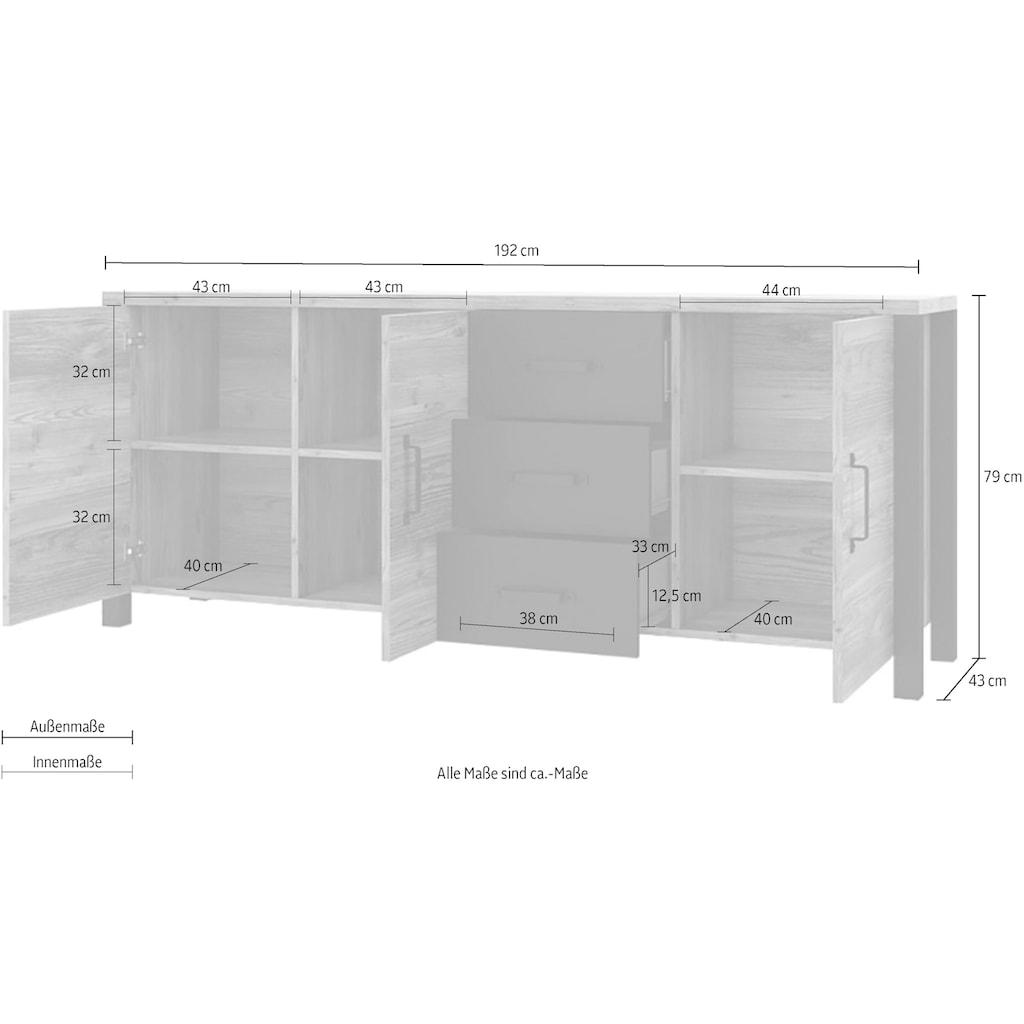 TRENDMANUFAKTUR Sideboard »Olin WM«, Breite 192 cm