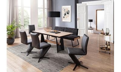 K+W Komfort & Wohnen Essgruppe »Deseo II«, (Set, 6 tlg.), Solobank mit Rückenneigungsverstellung in 2 Breiten, 4 Drehstühle und Tisch 180x90 cm kaufen