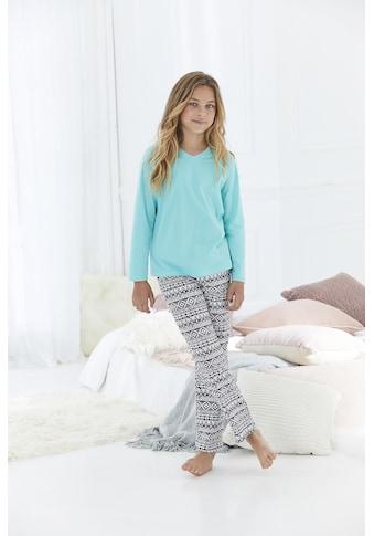 Buffalo Pyjama, (Set, 2 tlg.), mit cool bedruckter Hose kaufen