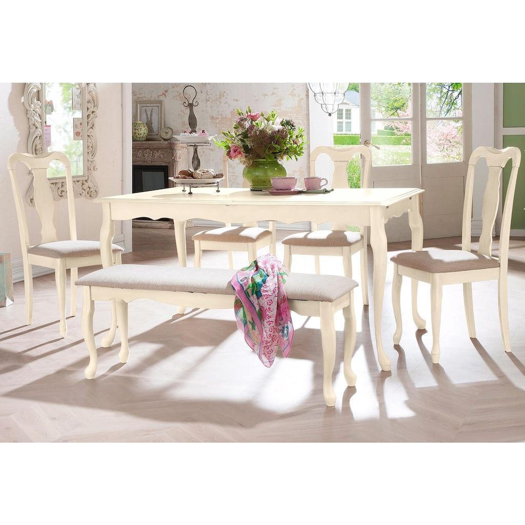 Home affaire Sitzbank »Queen«, mit schönen eleganten geschwungenen Beingestell und bequemen Webstoff Bezug, Höhe 47 cm